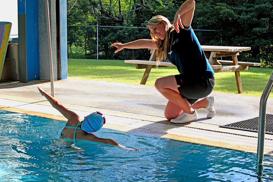 Image of a private swimming lesson
