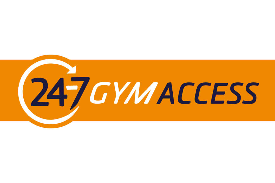 Logo for 24-7 gym access