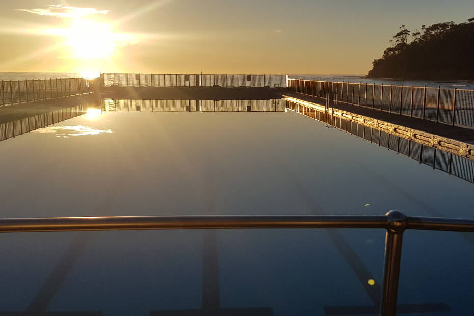 Ulladulla Sea Pool at sunrise